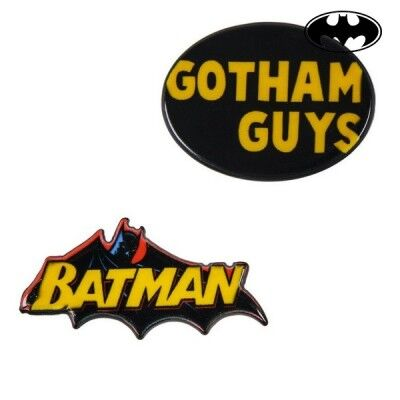 Broche Batman Amarillo Negro