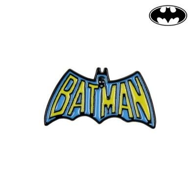 Pin Batman Metal Amarillo Azul
